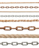 Chain rope connection slavery strenght link — Stock Photo