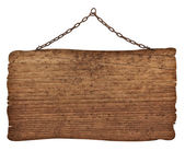 Wooden sign background message — Stock Photo