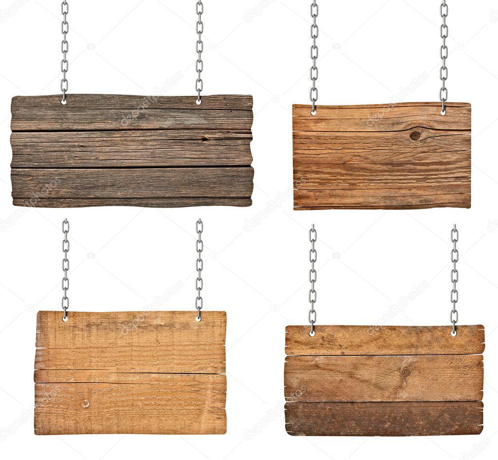 Letrero de madera con cadena colgante mensaje de fondo - Letreros en madera ...