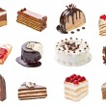 Cream chocolate fruit cake sweet food dessert — Stock Photo #27284809