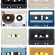Music audio tape vintage — 图库照片