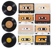 Music audio tape vynil vinyl vintage — Stock Photo