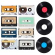 Music audio tape vynil vinyl vintage — Stock Photo #27690641