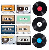 Music audio tape vynil vinyl vintage — Stock Photo