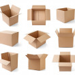 Cardboard box package moving transportation delivery — Stock Photo #27800607