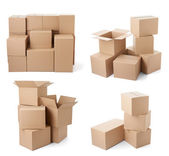 Cardboard box package moving transportation delivery — Photo