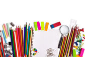 School education supplies items — Stock Photo