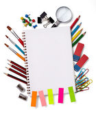 School education supplies items — Foto Stock