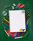 School education supplies items — Stock Photo
