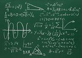 黒板には、数式のクローズ アップ — ストック写真