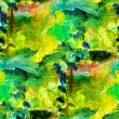 Macro seamless texture africa green oil painting — Stock Photo