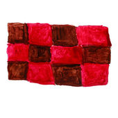 Watercolor square red brown abstract art artistic isolated backg — 图库照片