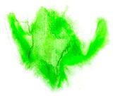 Macro spot green blotch texture isolated on white background — Stock Photo