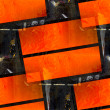 Abstract orange table background aged damaged  border constructi - Stock Photo