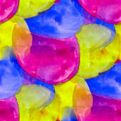 Seamless blue purple yellow background watercolor water abstract — Stock Photo