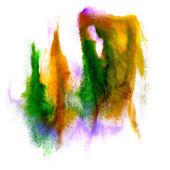 水彩ブラシ抽象芸術緑紫黄色芸術的なベッラ島 — ストック写真