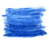 Watercolor paint blue brush watercolour color stroke background — Stock Photo
