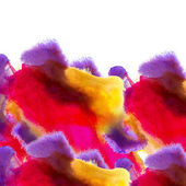 Red purple yellow background watercolour brush texture isolated — Stock Photo