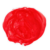 Red circle watercolor paint brush watercolour color stroke backg — Stock Photo