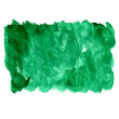 Spot green square watercolor blotch texture isolated on a white — Stock Photo