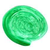 Circle green blob watercolor brush strokes isolated on a white b — Stock Photo