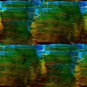 Seamless watercolor blot background raster green, blue, yellow i — Stock Photo