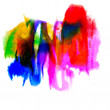 Stock Photo: Abstract purple blue red yellow green isolated watercolor stain