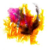 Akwarela streszczenie, żółty, czerwony, na białym tle plama raster wektor — Zdjęcie stockowe