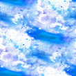 Seamless abstract blue watercolor blot texture patch on white b — Stock Photo #15745431
