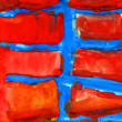 Red blue abstract texture of gouache — Stock Photo