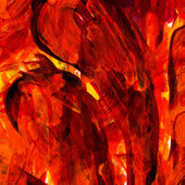 Fire red watercolor background — Stock Photo
