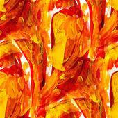 オレンジ色のシームレスなマクロ テクスチャ水彩ブラシ ストロークで — ストック写真