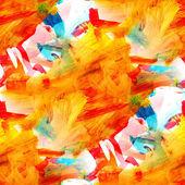 シームレスなテクスチャ画像オレンジ水彩画の抽象的な背景 — ストック写真