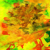 Yellow watercolor background with blots — Stock Photo