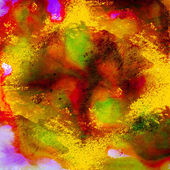Arts yellow red and orange watercolor background — Foto de Stock