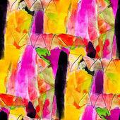 シームレス テクスチャ色水彩黄色紫黒抄録 — ストック写真