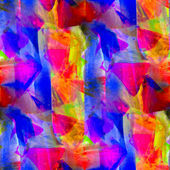 Seamless blue red yellow texture watercolor wallpaper background — Stock Photo