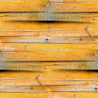 Stock Photo: Seamless texture of wooden fence of old yellow