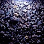 Fioletowy kamienie żwir tekstura — Zdjęcie stockowe