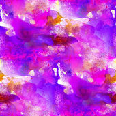 Sömlös målning lila blå rosa akvarell med ljusa brushs — Stockfoto