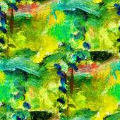 Macro textura transparente verde óleo sobre lienzo con — Foto de Stock