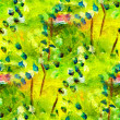 Seamless texture macro green oil painting on canvas with brush s — Stock Photo