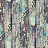 Seamless blue texture old wood with cracks — Stock Photo