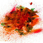 Red with splashes of watercolor blot — Stock Photo