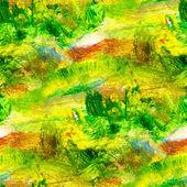 Makro-nahtlose textur grün-ölgemälde auf leinwand mit pinsel s — Stockfoto