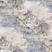 Wall with cracks seamless texture with fissure — Stock Photo