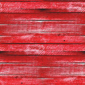 Seamless texture of red wooden fence — Stock Photo