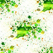 Seamless macro texture green watercolors with brush strokes — Stock Photo