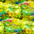Macro seamless texture africa oil painting on canvas with brush — Stock Photo