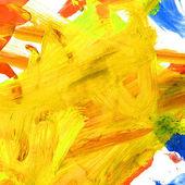 Yellow watercolor brushstrokes texture — Stock Photo